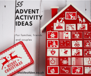 55 Advent Activity Ideas | Looking for something other than chocolate for #advent? How about doing a #daily #activity got the #countdown #to #Christmas