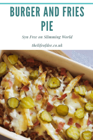 Burger and Fries Pie Slimming World Fakeaway | Minced beef cooked in a tomato sauce layered with chips is a the perfect Syn Free fakeaway to the real thing