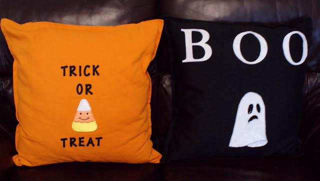 DIY Halloween cushions