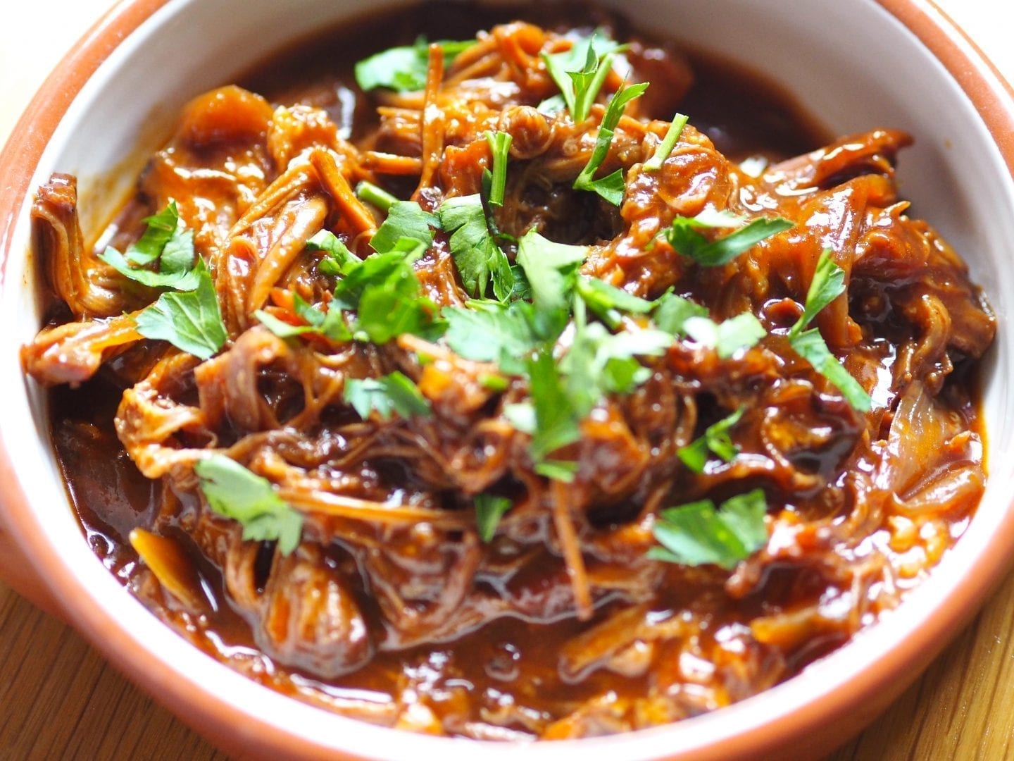 Slow cooked BBQ Pulled Beef recipe