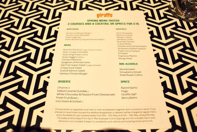 Giraffe Restaurant Review