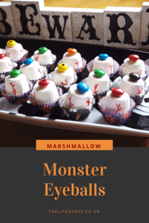 Looking for the perfect Halloween party snack? Then these Marshmallow Monster Eyeballs are ideal for you, easy to make and no baking involved. You could even add them to a hot chocolate for a floating eyeball.