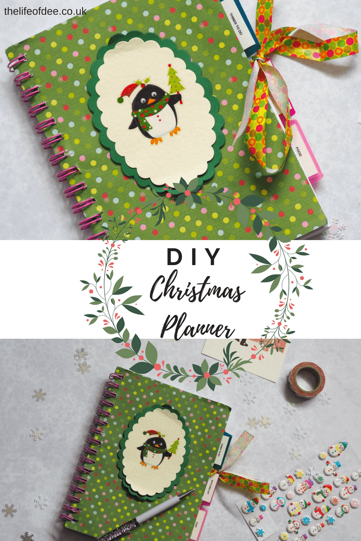 DIY Christmas Planner  | Are you trying to be more organised this Christmas? Then why not make this DIY Christmas Planner so you can have your most organised Christmas ever and for many years to come.
