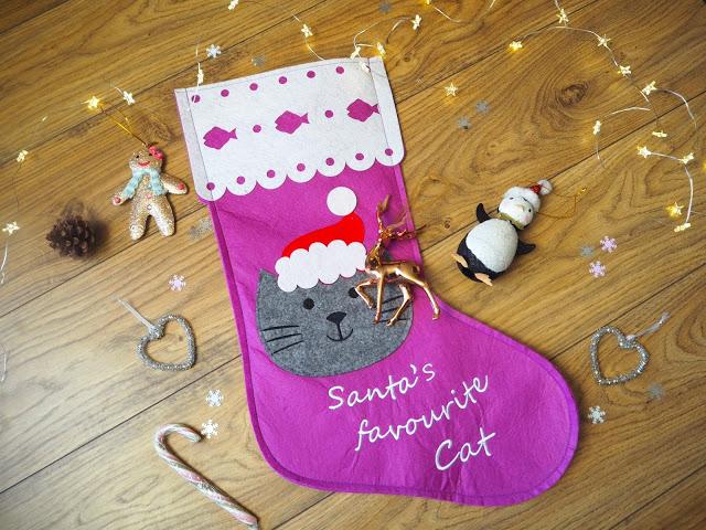 Christmas Cat Stocking; Christmas Decorations