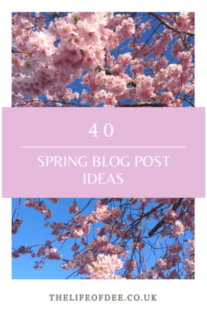 40 Spring Blog Post Ideas | Looking for Spring Blog Post Ideas? Here are 40 blog prompts to see you through the season