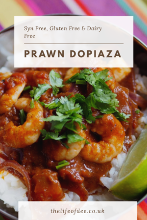 Slimming World Prawn Dopiaza | You Can still get a curry even though you are on a diet. This Syn Free Prawn Dopiaza tastes amazing with its juicy prawns smothered in a rich tomatoey sauce #slimming #world #prawn #dopiaza #syn #free #curry