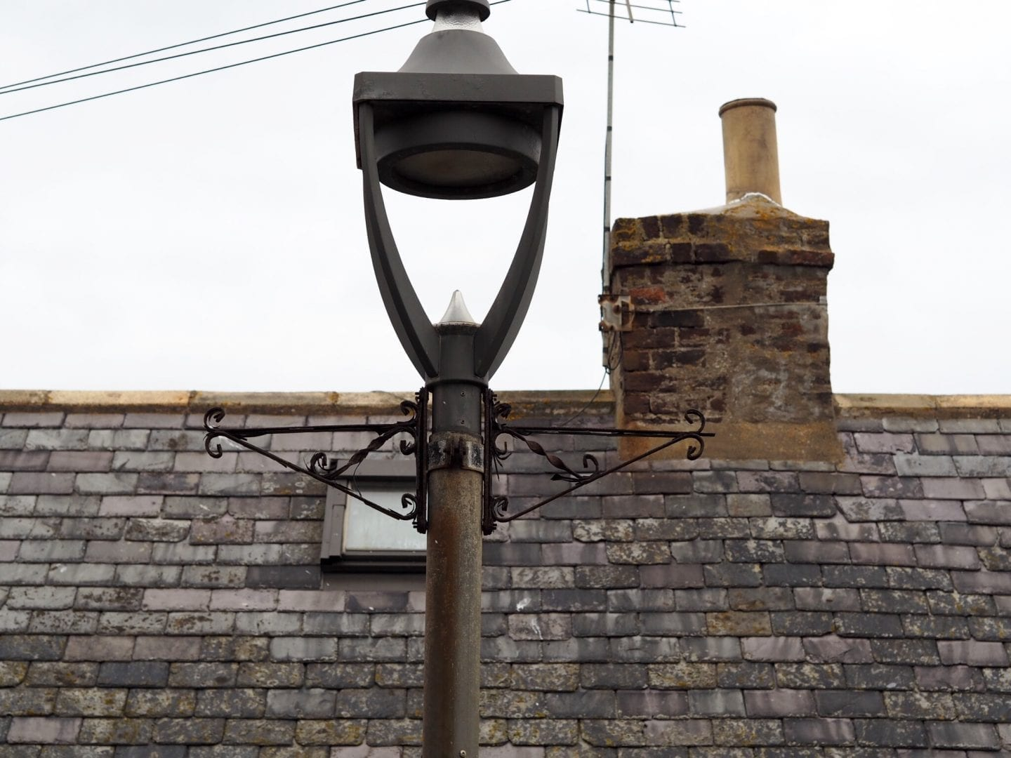 Street lamps in Footdee Aberdeen