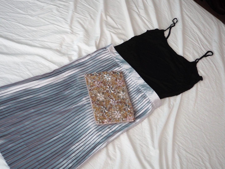 TopShop Silver Midi Skirt