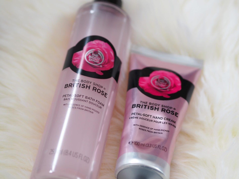 Body Shop British Rose Hand Cream & Bath Foam