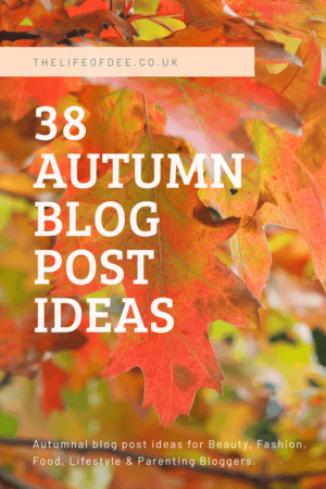 38 Autumn Blog Post Ideas | Looking for content ideas for Autumn? Got Blogger's Block? Then I've got 38 Autumn Blog Post Ideas that you can use!