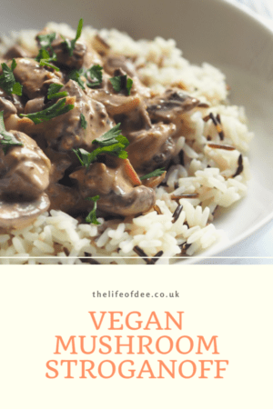Vegan Mushroom Stroganoff- This #vegan #mushroom #stroganoff is such an #easy recipe to make and tastes so good! You wouldn't know that it was #dairy (and #nut) #free.