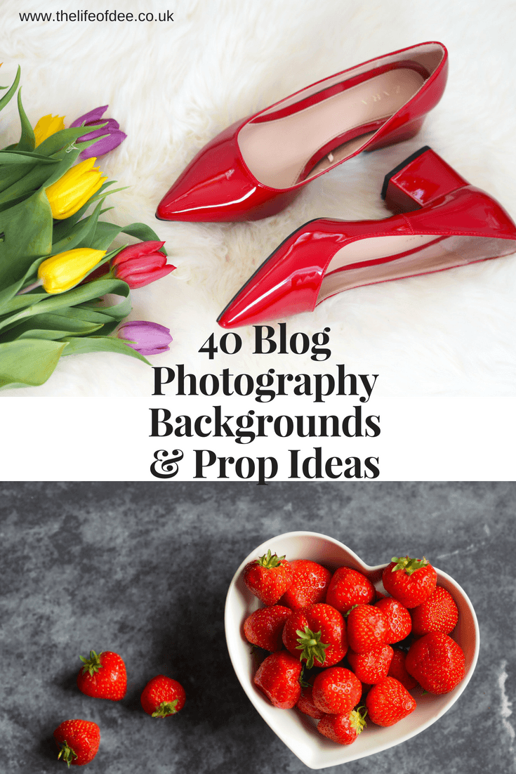 Blog Photography Backgrounds & Blog Props Looking for ways to improve your blog photography? These 40 prop and background ideas will make your photos go from meh to wow.
