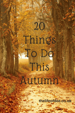 20 Things To Do This Autumn | Looking for ideas on things to do this season? Here are 20 things to keep you busy over the Autumn