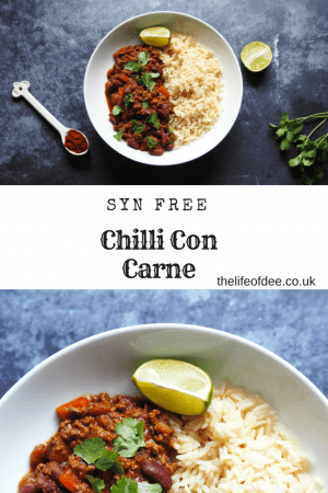 Syn Free Chilli Con Carne Recipe | Syn Free On Slimming World Minced beef in a spicy tomato sauce with chunky red peppers, onions and red kidney beans. Serve with rice or in a baked potato