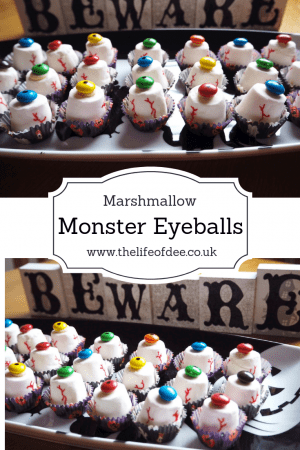 Marshmallow Monster Eyeballs  An ideal Halloween party snack or for your Trick or Treat