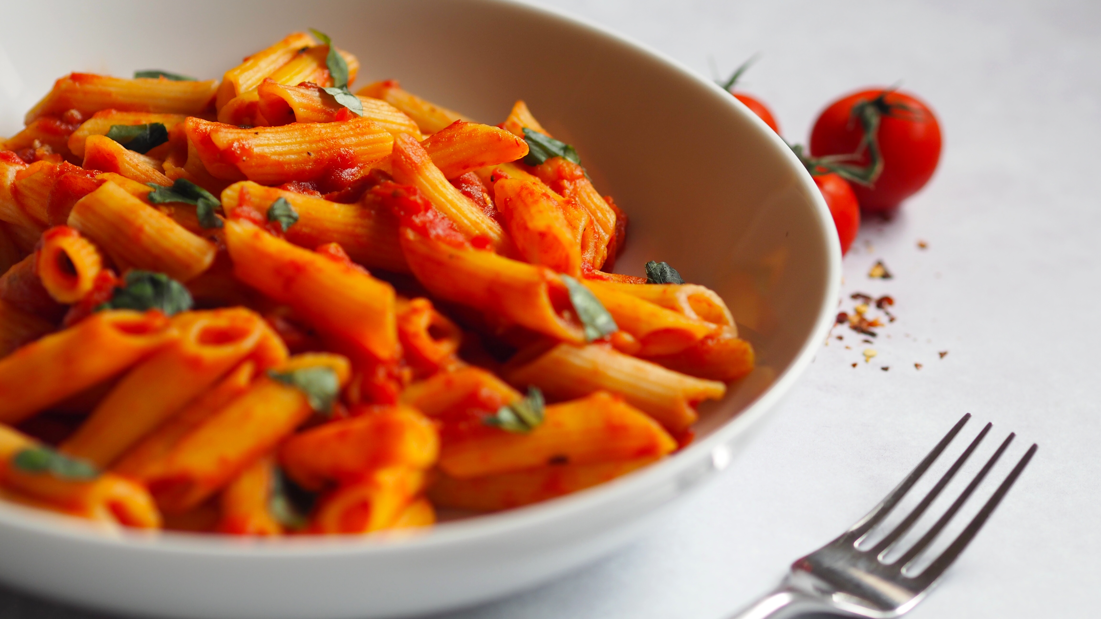 Penne Arrabbiata an easy pasta dish that is #syn #free on #slimming #world, #gluten #free as well as being #vegan
