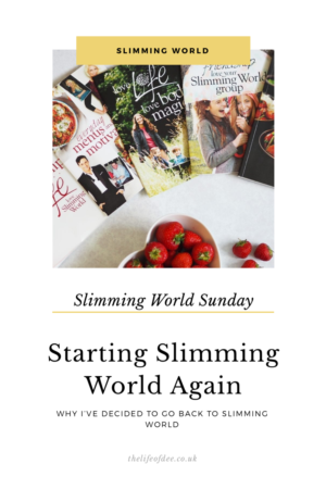 Slimming World Sunday | Starting Again. Why I've decided to go back to Slimming World but this time Online