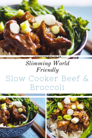 Slimming World Friendly Slow Cooker Beef and Broccoli #chinese #fakeaway #gluten #dairy #syn #free #meals #slimming #world