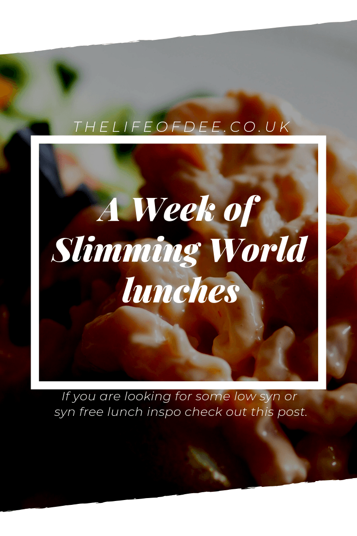 A Week of Slimming World Lunches | Looking for some #slimming #world #lunch #ideas then you have come to the right place. Check out these low Syn lunches