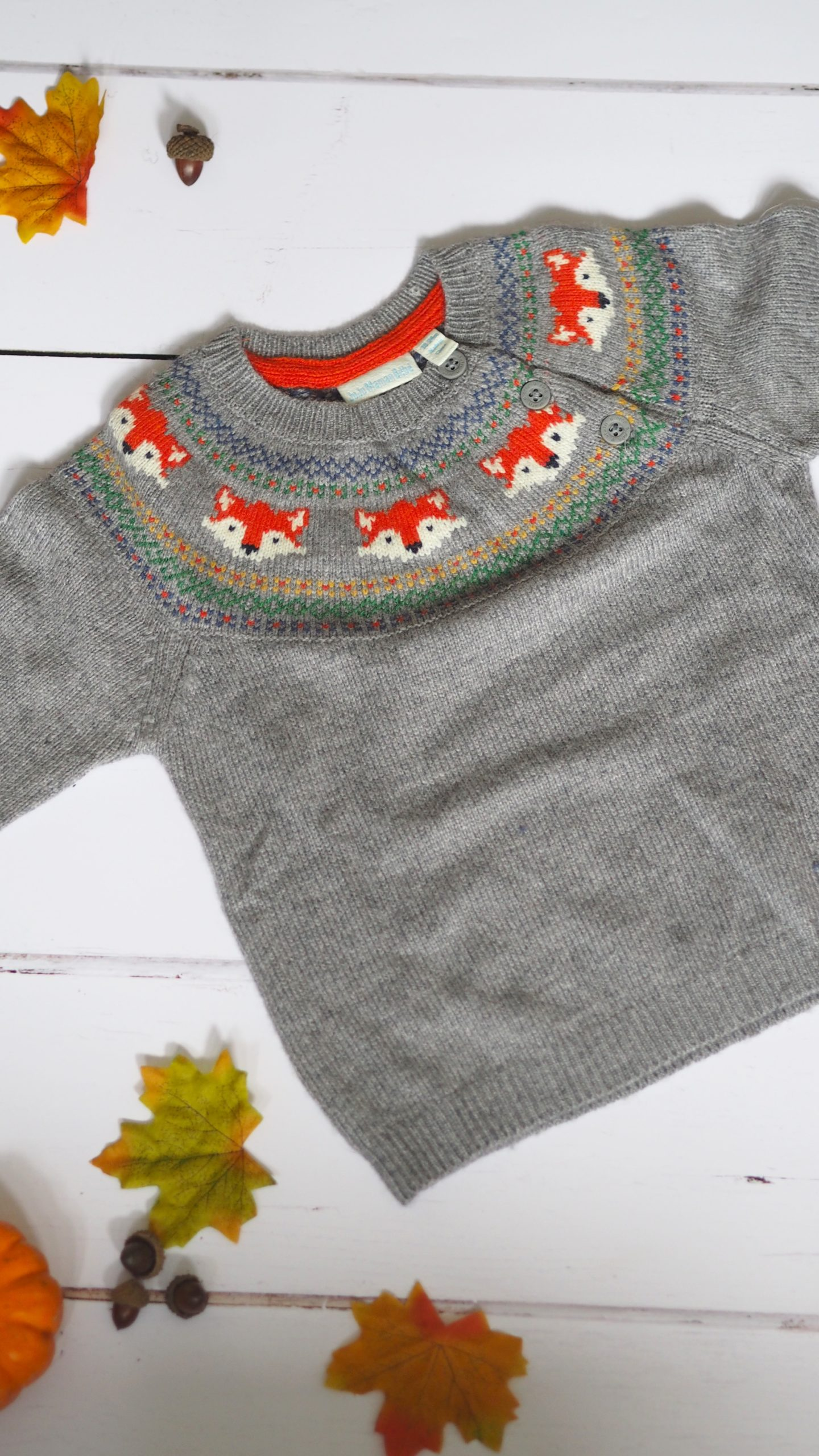 JoJo Maman Fair Isle Fox Jumper