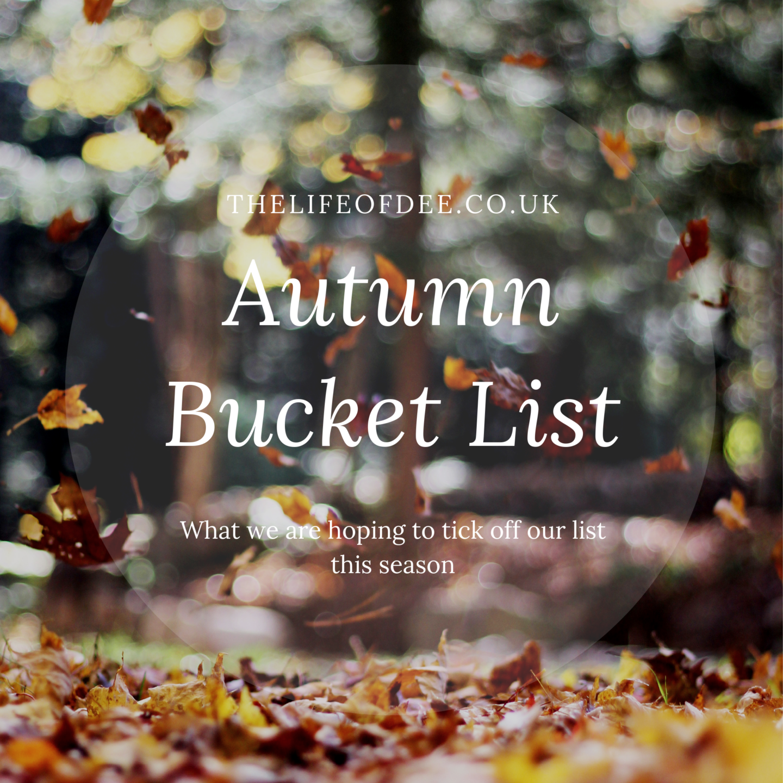 Autumn Bucket List 2018