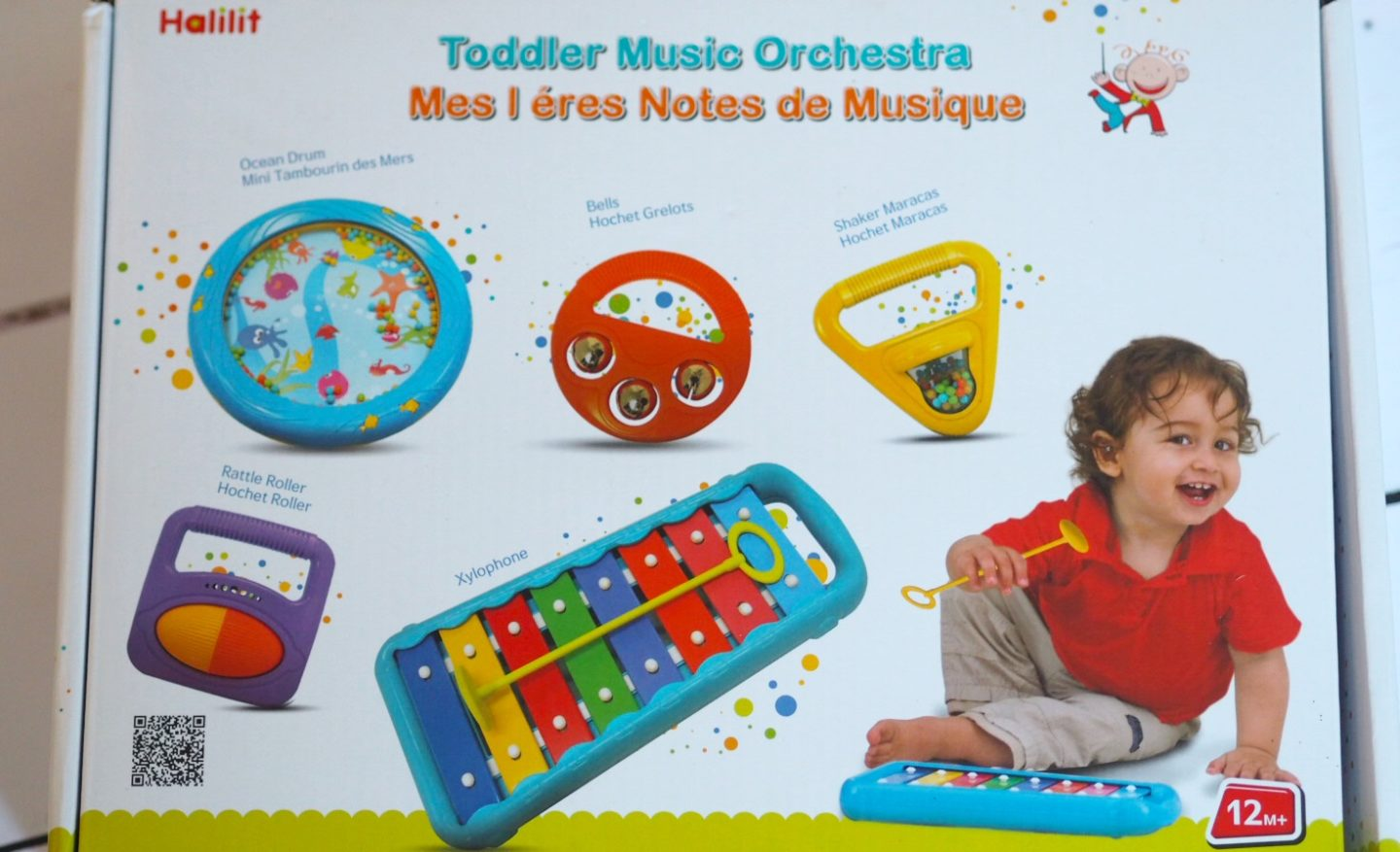 Halilit Toddler Music Orchestra Set | Playing with instruments helps with developing toddler's gross and motor skills. Check out my thoughts on the Halitat Toddler Music Orchestra Set Review.