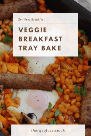 Veggie Breakfast Tray Bake | Slimming World Sunday | This Veggie Breakfast Tray Bake is the perfect weekend lazy breakfast or brunch. This syn free dish is packed full with veg and protein so it will fill you up until dinner time!