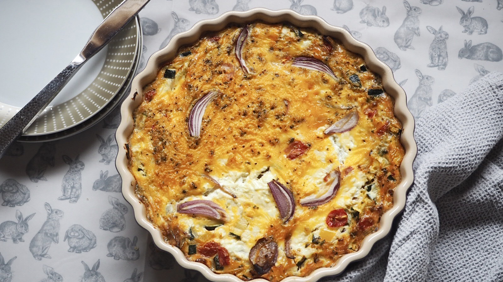 Summer Vegetable Crustless Quiche | Slimming World Sunday #syn #free #slimming #world #breakfast #lunch #dinner #snack