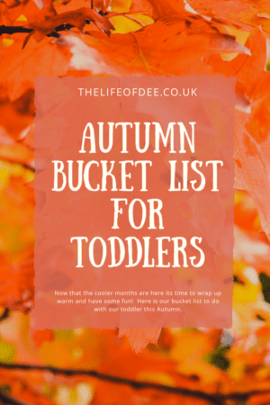 Autumn Bucket List for Toddlers | Things to do with your toddler this Autumn