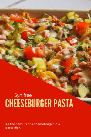 Cheeseburger Pasta | A delicious syn free dish perfect for a midweek meal. All the flavours of a cheeseburger in a pasta dish. #synfree #slimming #world #pasta #cheeseburger