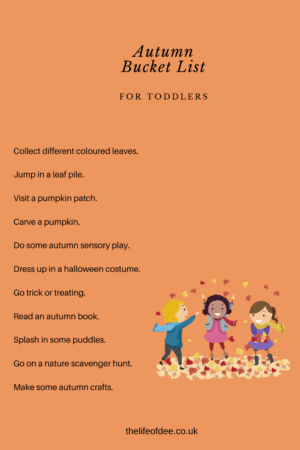 Autumn Bucket List | Things To Do With Your Toddler In Autumn #autumn #bucket #list #toddlers #fall