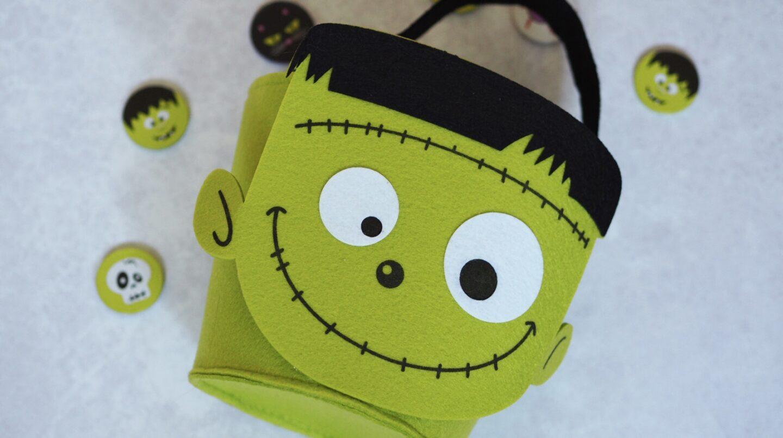Home Bargains Frankenstein felt Halloween Bucket