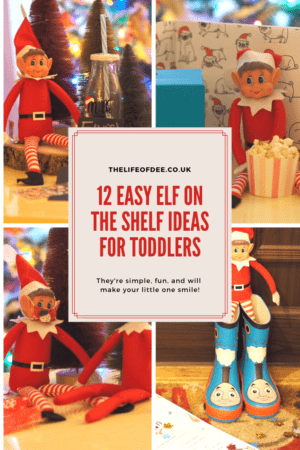 Elf on the Shelf Ideas for Toddler's | Looking for some #easy #elfontheshelf #eots activities for your toddler? I have 12 fun activities for you and your #elf to try