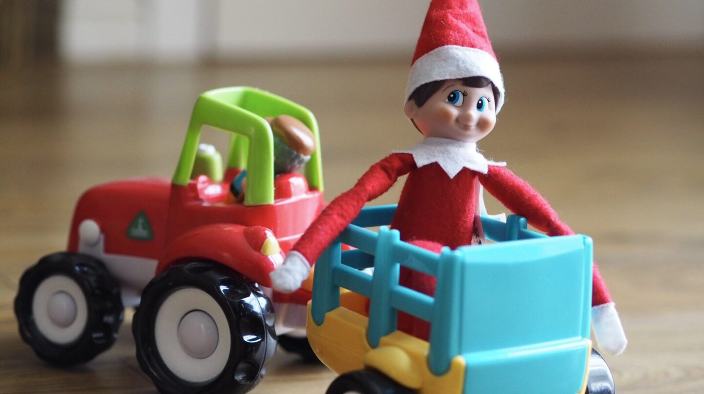 Elf on the Shelf Arrival Ideas | Arriving in a Tractor