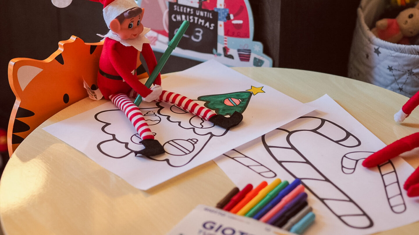 Elf on the Shelf Ideas | Colouring In Sheets