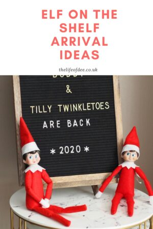 Elf on the Shelf Arrival Ideas | Looking for creative and fun ways for your Christmas elves to arrive?  Then read on to find out
