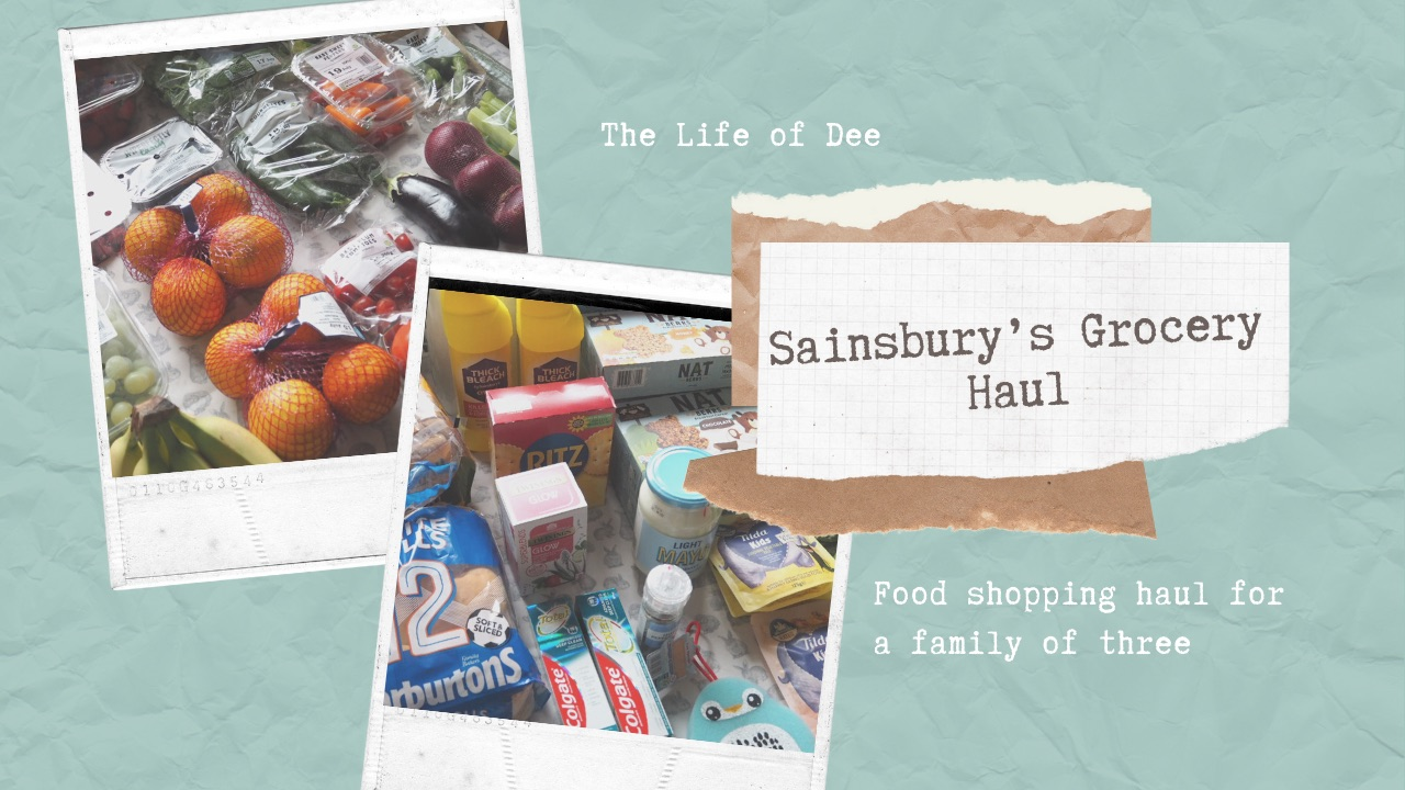 Sainsbury's Grocery Haul | UK Food Shopping Haul for a family of three